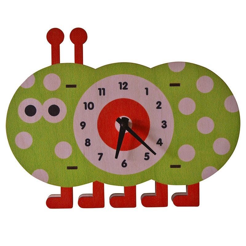 爆買い! ウォールクロック Caterpillar 木製 Modern 壁掛け時計 いもむし Modern Moose Caterpillar Wall Wall Clock, 夢前町:f7691075 --- canoncity.azurewebsites.net