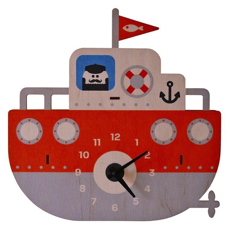 3Dウォールクロック 壁掛け時計 Modern Moose Tugboat 3D Wall Clock