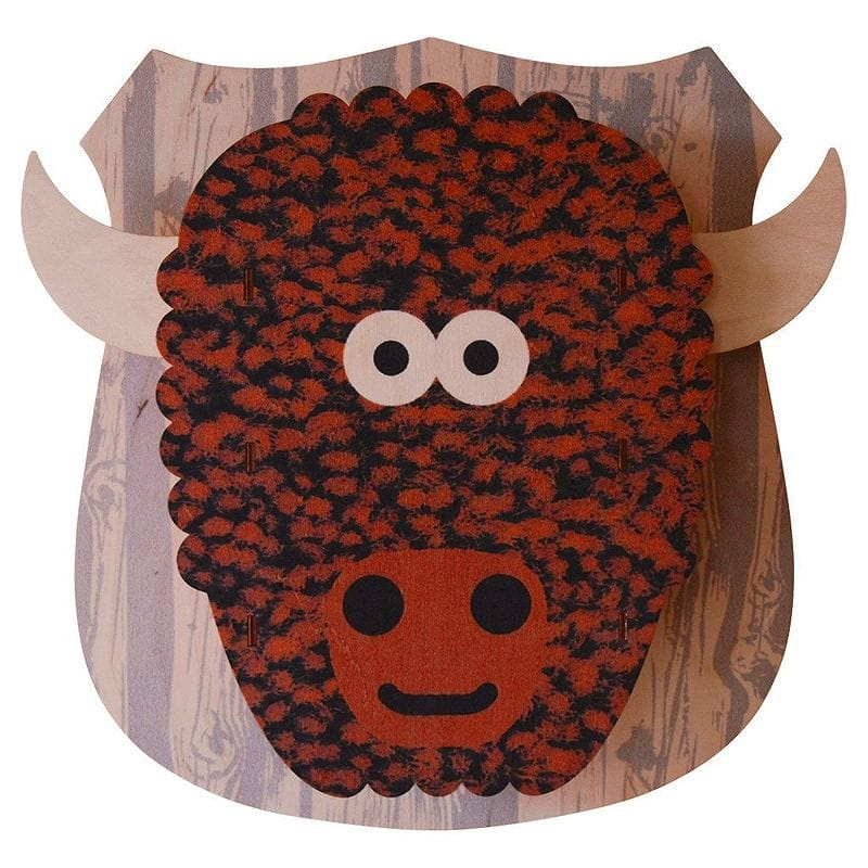 3Dウォールデコ 壁飾り 木製 Modern Moose Buffalo 3D Wall Decor