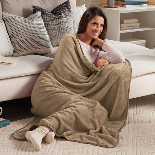 ナップ ブランケット 毛布 キャメル Nap Throw Blanket