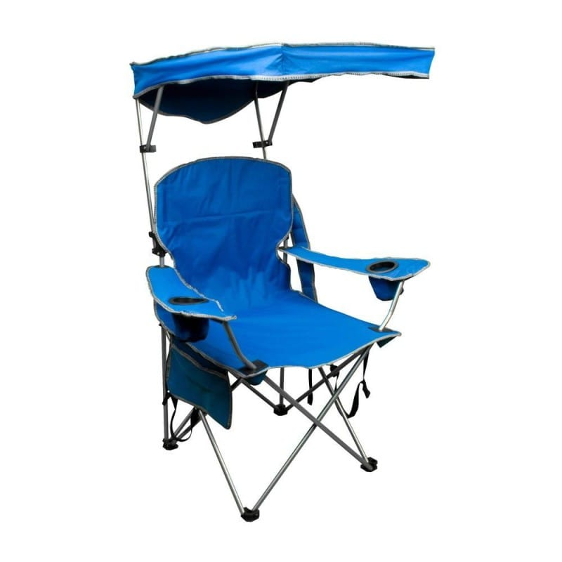 日傘付折り畳み椅子 日焼け対策 ビーチ チェア 野外フェス 運動会 キャンプに最適Quik Shade Adjustable Canopy Folding Camp Chair【smtb-】