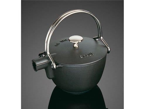 フランス ストウブ ヤカン ケトル 0.95L 黒(ブラック) Staub La Theiere Round Teapot Black