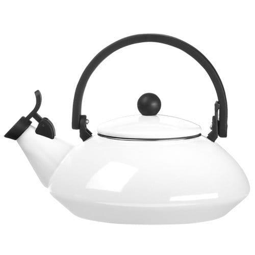 ルクルーゼ ゼン 笛吹きケトル やかん ホワイト 白 1.5L IH対応 Le Creuset Zen Enamel-On-Steel Quart Kettle, White