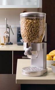 ゼブロ ドライフード シングルディスペンサー シルバーZevro Single Dry Food Dispenser, Silver GAT102