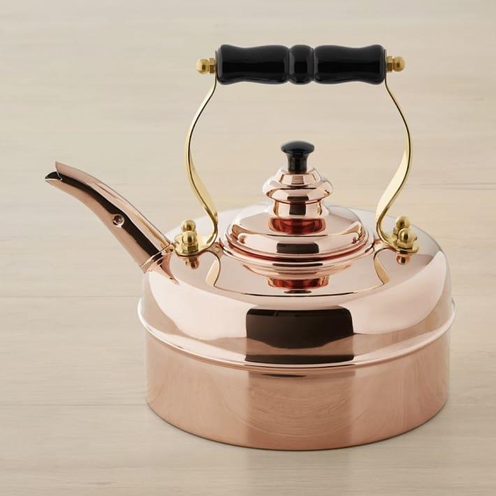 銅製 ケトル やかん シンプレックス ケンジントン No.1 ハンドメイド イギリス製 Newey & Bloomer Simplex Kettles Kensington Solid Copper No.1 Copper Finish 1.9 Quart Teakettle