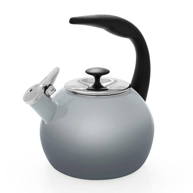 笛吹きケトル やかん シャンタール IH対応 ヒース グレー Chantal Enamel-On-Steel Heath Teakettle 2Qt. 37-HEATH-OM FG
