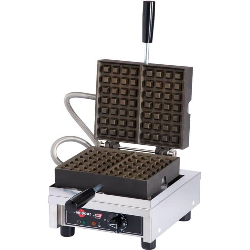 業務品質 ワッフルメーカー 4枚焼 リエージュ Krampouz WECCHCAS Liege Style Belgian Waffle Maker 家電