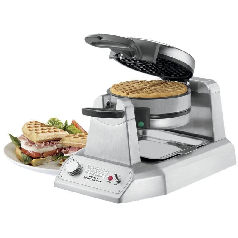 【訳あり】業務品質 ダブルワッフルメーカー Waring WWD200 Non-Stick Double Waffle Maker 家電