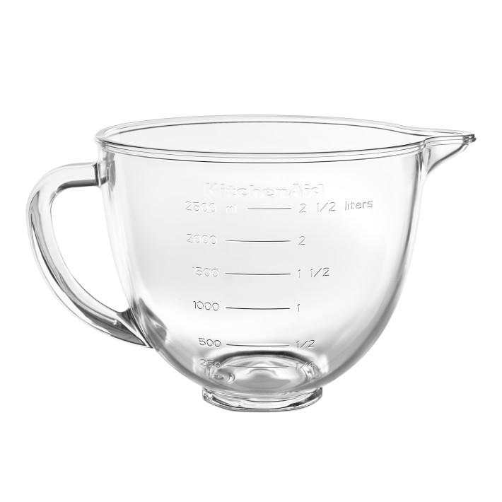 キッチンエイド スタンドミキサー ミニ用 ガラスボウル 取っ手付 ハンドル付 KitchenAid Polished Bowl with Handle KSM35GB