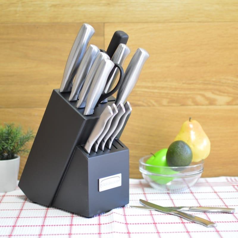 クイジナート ナイフブロック 15点セット ステンレス Cuisinart 15-Piece Stainless Steel Hollow Handle Block Set C77SS-15PK