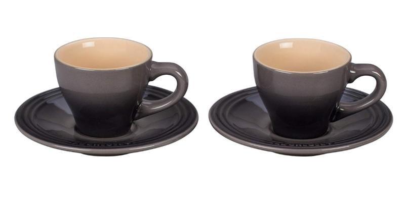 ル・クルーゼ エスプレッソ カップ&ソーサー 2客セット オイスターLe Creuset Set of 2 Espresso Cups and Saucers Oyster ルクルゼ ルクルーゼ コップ カップ