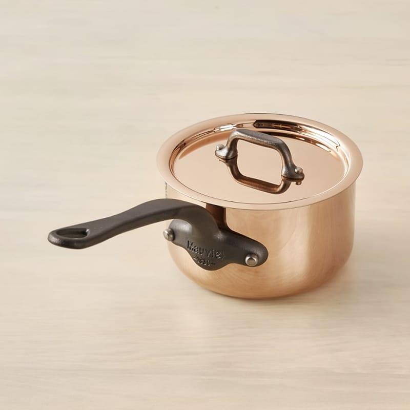 ウイリアムズ・ソノマ フランス ムヴィエール ソースパン 片手鍋 銅×ステンレス Williams-sonoma Mauviel M250C Copper Sauce Pan