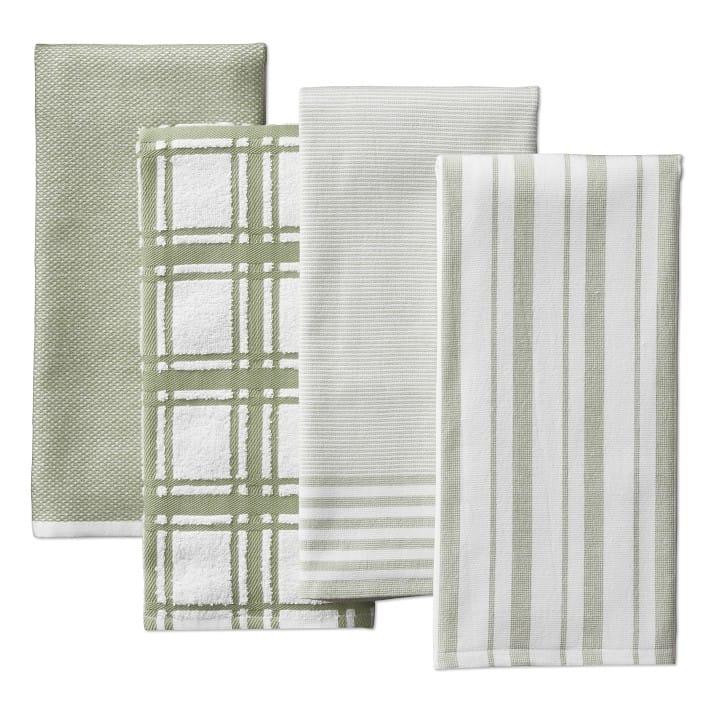 30日間返金保証 送料無料 カラーがいろいろ選べます タオル ウイリアムズ ソノマ 柄 4枚 Williams Sonoma タイムセール 高品質 76×50cm Towels Absorbent Multi-Pack セット