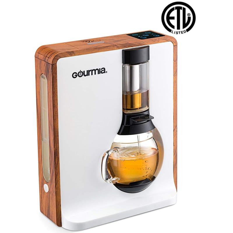 ティーメーカー コーヒーメーカー 電動ブリュワー 醸造 紅茶 Gourmia GTC8000W Electric Square Coffee & Tea Maker 家電