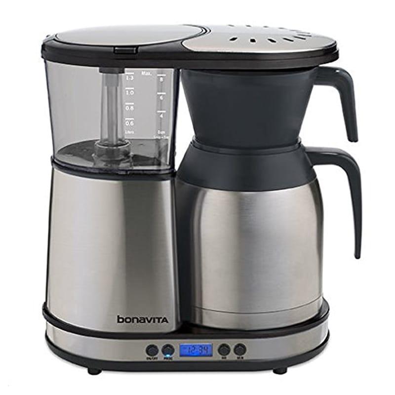ボナビータ コーヒーメーカー 8カップ 1.3L ステンレスカラフェ プログラムタイマー付 Bonavita BV1900TD Automatic Programmable Coffee Brewer, Silver 家電