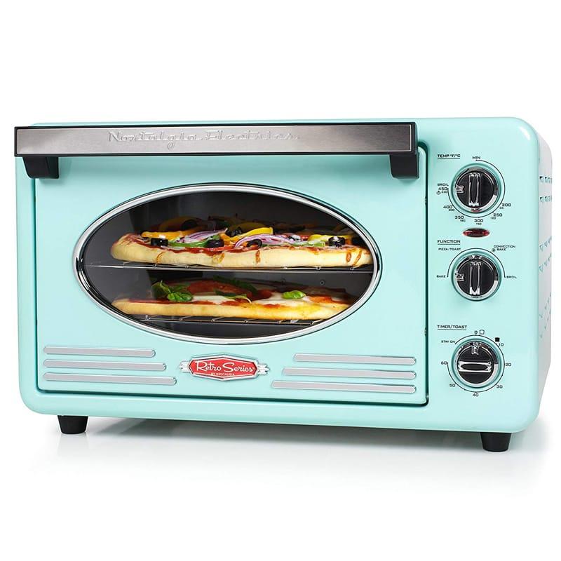 ノスタルジア レトロ コンベクション トースターオーブン Nostalgia RTOV220AQ Retro 12-Slice Convection Toaster Oven 家電
