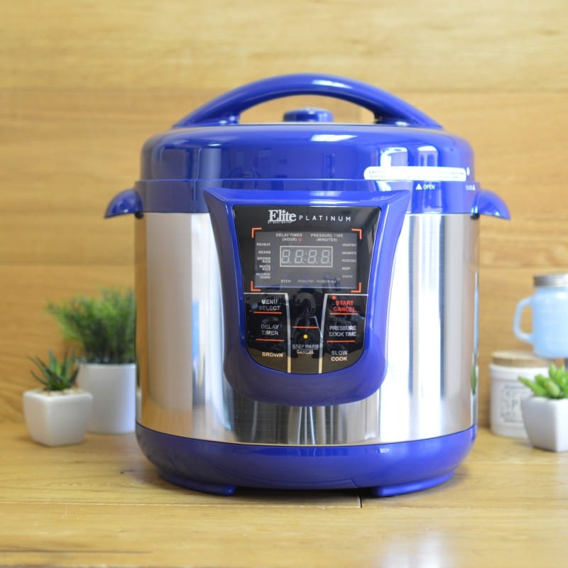 スロークッカー マルチクッカー 大容量 7.6L Elite Platinum EPC-808 Maxi-Matic 8 Quart Electric Pressure Cooker 家電