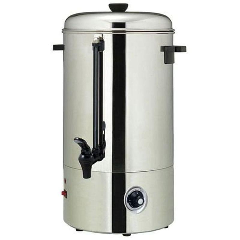お湯 ホテル カフェ カウンタートップ ステンレス ウォーターボイラー 100カップ 温度計付 温度調節可能 Adcraft Countertop Water Boiler, 100 Cup Capacity WB-100 家電