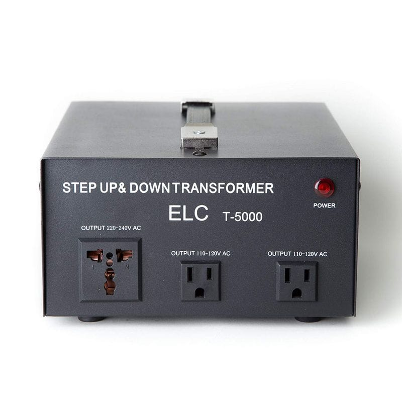 変圧器 アップトランス ダウントランス 5000Wまで 220-240V⇔110-120V  ELC T-5000 5000-Watt Voltage Converter Transformer - Step Up/Down - 110V/220V - Circuit Breaker Protection 家電