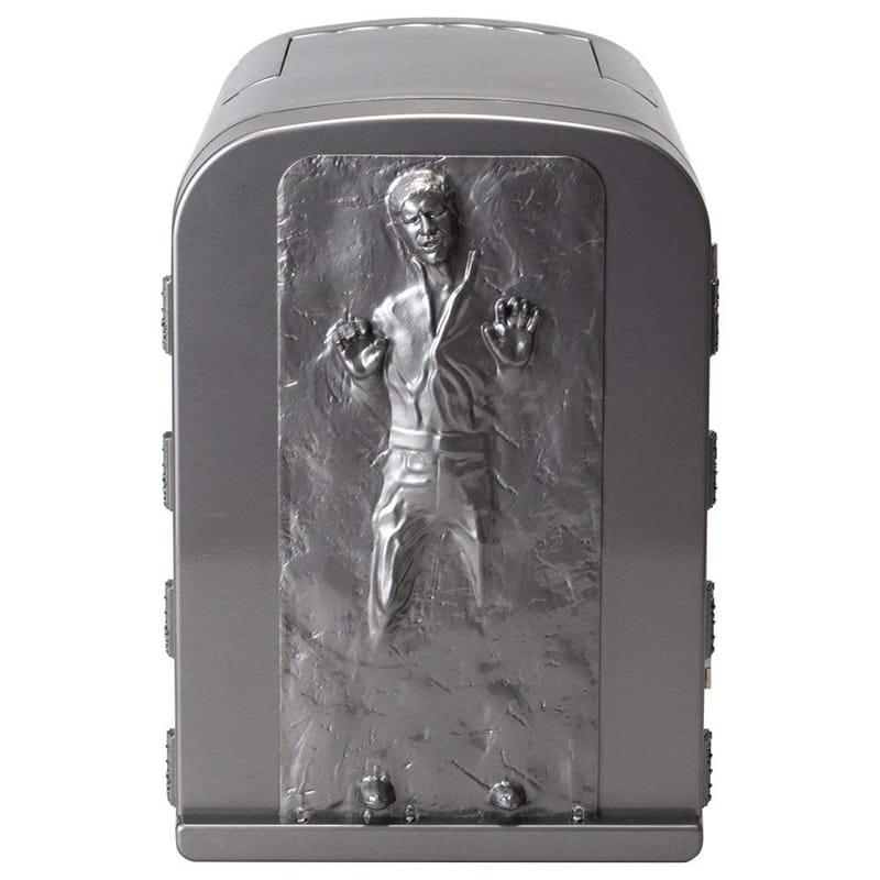 スターウォーズ ハン・ソロ ミニ冷温庫 冷蔵庫 6缶 保温 車載可能 NEW Star Wars Han Solo in Carbonite 3D 4 Liter Thermoelectric Mini Fridge Cooler 4L 家電