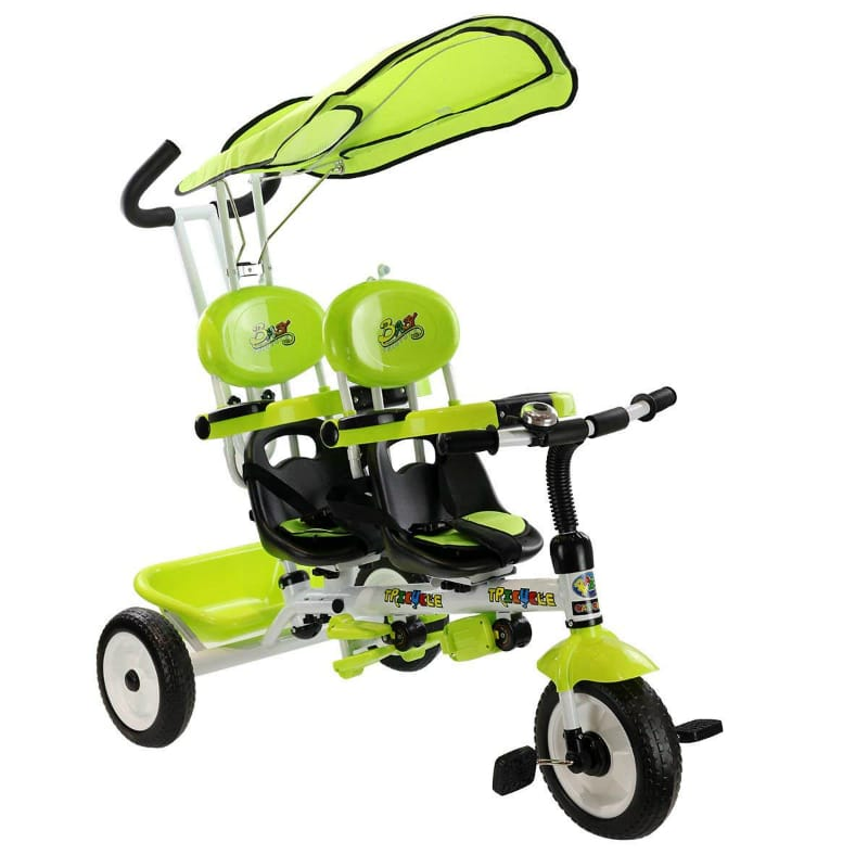 2人乗り 三輪車 双子用 シート可動 タンデム Costzon 4 In 1 Dual Twins Kids Trike Baby Toddler Tricycle Safety Double Rotatable Seat w/ Basket