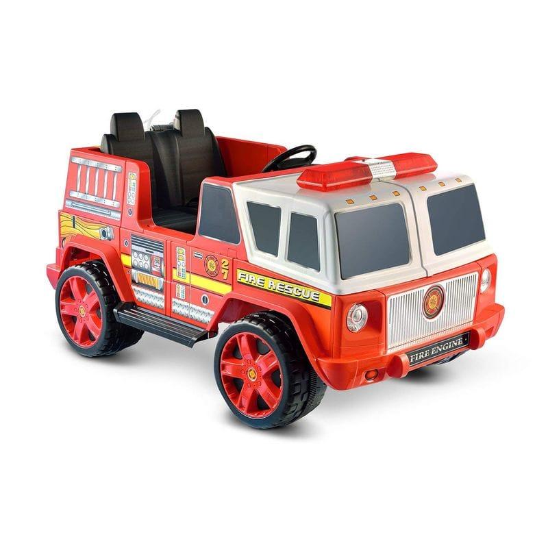 消防車 ホースが使える 12Vバッテリー付 子供用電動自動車 3才~ 電気自動車Kid Motorz Fire Engine 2 Seater【代引不可】【組立要】 家電