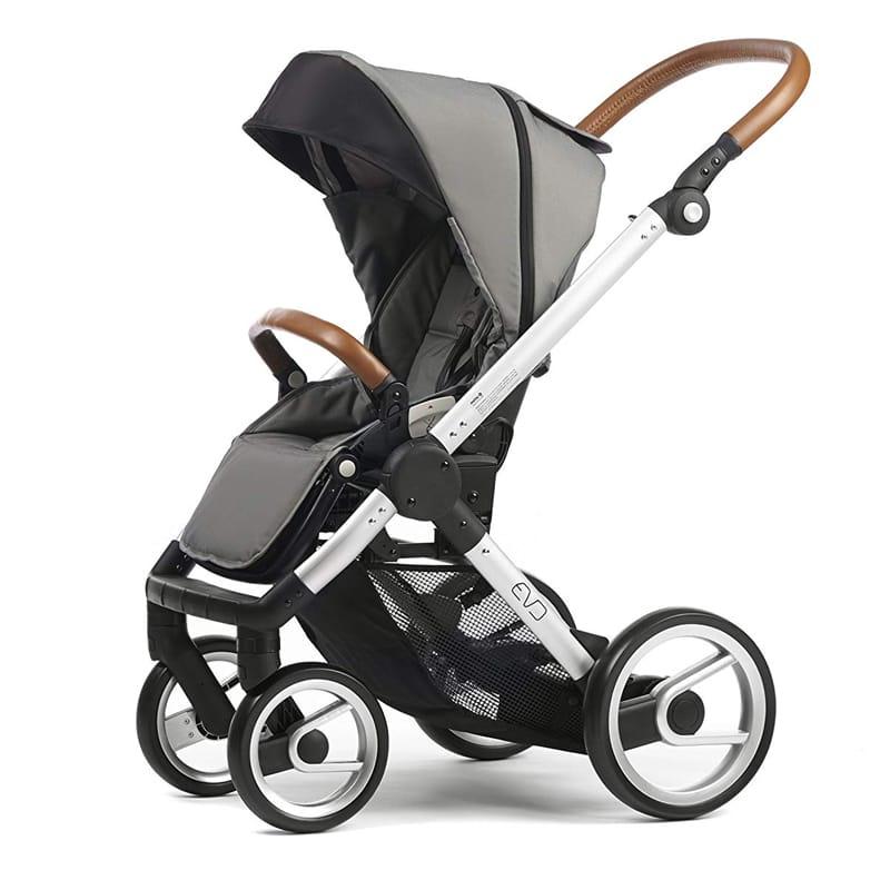 マッツィ ベビーカー 新生児 ストローラー 乳母車 Mutsy Evo Urban Nomad Stroller, Silver Chassis, Light Grey