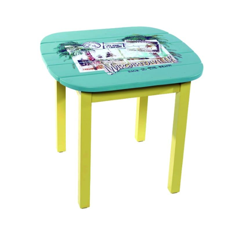 サイドテーブル ハンドメイド 高さ55cm カリフォルニア ポストカード margaritaville POSTCARD SIDE TABLE