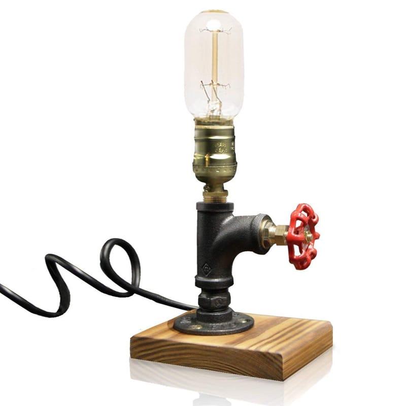 ビンテージ デスクライト デスクランプ パイプ レトロ ライト Vintage Desk Lamp,Dimmable Retro Industrial Desk Light Iron Pipe Table Lamp 家電