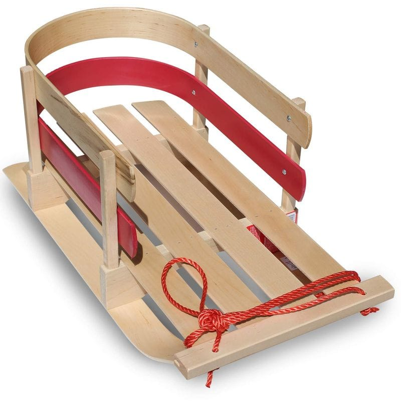 ソリ アウトドア Flexible Flyer Baby Pull Sled. Wood Toddler To-Boggan. Wooden Sleigh for Kids
