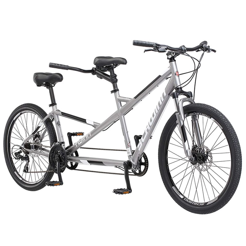 """シュウィン タンデム自転車 二人乗り グレー 26インチ Schwinn Twinn Tandem 26"""" Wheel Bicycle, Grey, One Frame Size 20""""【代引不可】【組立要】"""