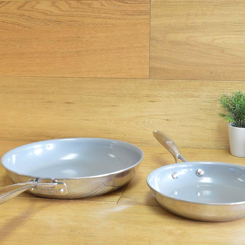 ウィリアムズソノマ ツヴィリング J.A.ヘンケルス チタン セラミック フライパン 20cm/25cm セット IH対応 PFOAフリー PTFEフリー Williams-Sonoma Zwilling Titanium Ceramic Nonstick Fry Pan Set
