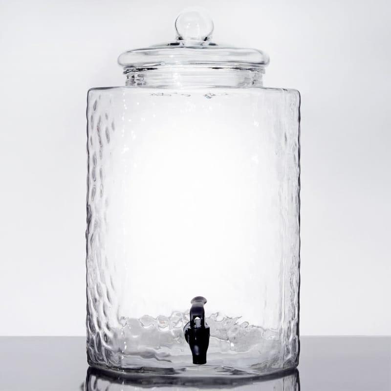 ドリンクサーバー 鎚目 ガラスドリンクディスペンサー 19L レストラン カフェ ホテル Acopa 5 Gallon Hammered Glass Beverage Dispenser 553040088