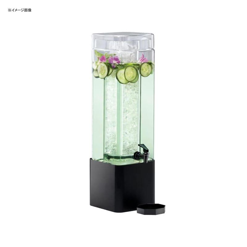【送料無料】 ドリンクサーバー スクエア型 ガラスドリンクディスペンサー 11L アイスチャンバー メタルスタンド付 レストラン カフェ ホテル Cal-Mil 1112-3-13 3 Gallon Mission Square Glass Beverage Dispenser with Black Metal Base 2111112313