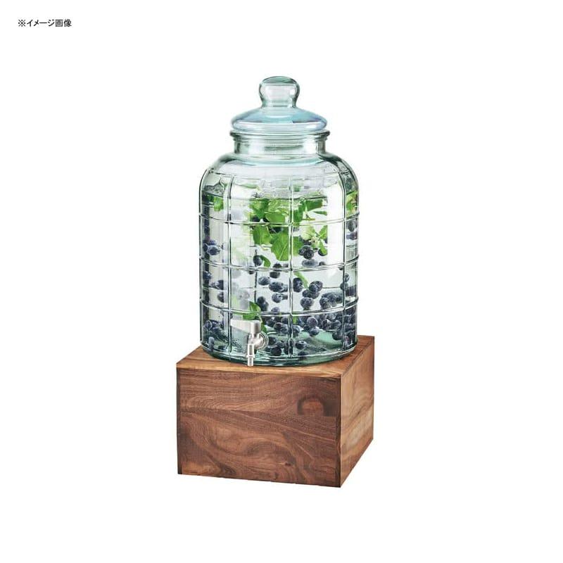 【送料無料】 ドリンクサーバー 模様入 ガラスドリンクディスペンサー 7.5L アイスチャンバー 木製スタンド付 レストラン カフェ ホテル Cal-Mil 3568-2-78 Mid-Century 2 Gallon Glass Beverage Dispenser with Walnut Base and Ice Chamber 2113568278
