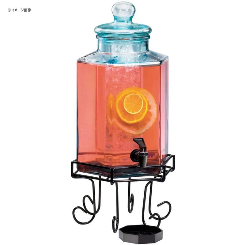 【送料無料】 ドリンクサーバー ガラスドリンクディスペンサー 7.5L アイスチャンバー ワイヤースタンド付 レストラン カフェ ホテル Cal-Mil 1111 2 Gallon Octagonal Glass Beverage Dispenser with Wire Base and Ice Chamber 2111111