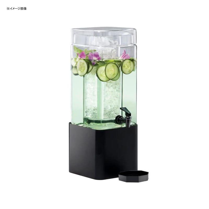 【送料無料】 ドリンクサーバー スクエア型 ガラスドリンクディスペンサー 5.6L アイスチャンバー メタルスタンド付 レストラン カフェ ホテル Cal-Mil 1112-1-13 1.5 Gallon Mission Square Glass Beverage Dispenser with Black Metal Base 2111112113