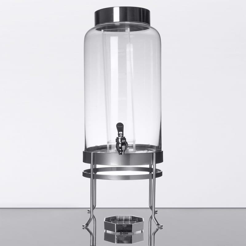 ドリンクサーバー ガラスドリンクディスペンサー 11L インフューザー ワイヤースタンド付ガラスドリンクディスペンサー レストラン カフェ ホテル Cal-Mil 1580-3INF-74 3 Gallon Silver Soho Glass Beverage Dispenser with Infusion Chamber 21115803INF7