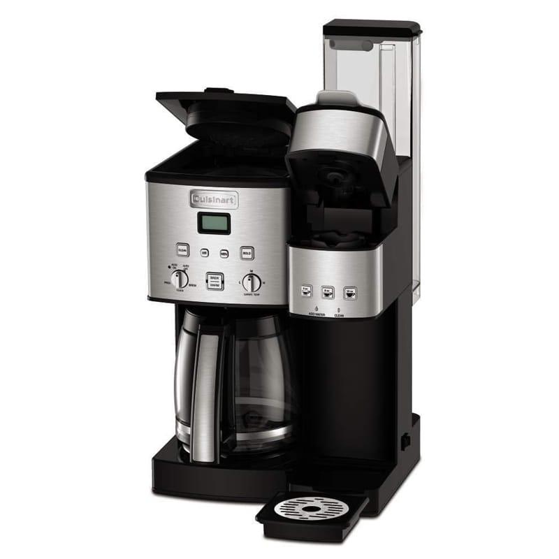 クイジナート コーヒーメーカー&シングルサーブブリュワー ガラスカラフェ 12カップ K-cup対応 Cuisinart SS-15 12-Cup Coffee Maker and Single-Serve Brewer 家電