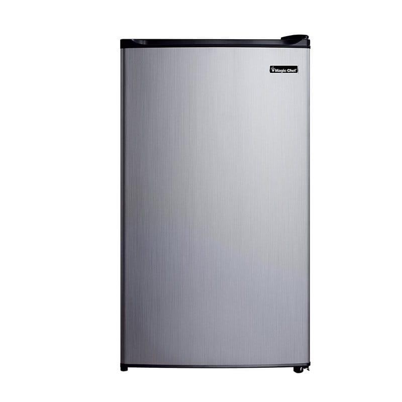冷蔵庫 冷凍庫付 マジックシェフ コンパクト 99L ステンレス Magic Chef 3.5 cu. ft. Compact Refrigerator with Freezer MCBR350S2【代引不可】家電