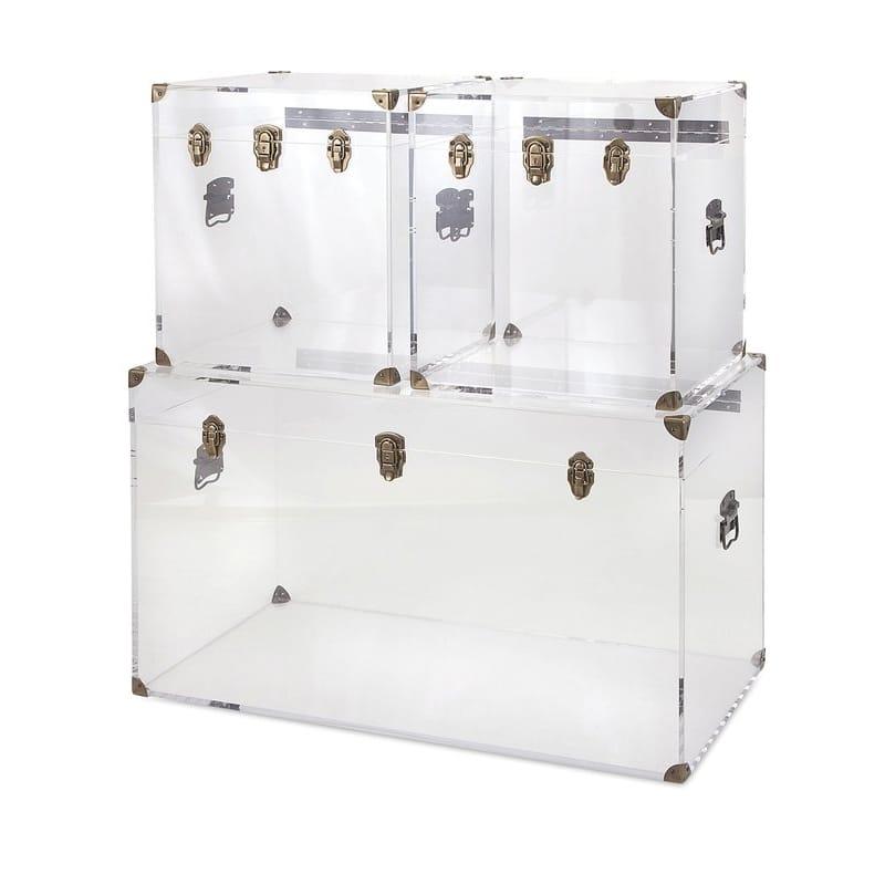 トランク 収納 アクリル製 透明 ストレージ ボックス 箱 3個セット Topher 3 Piece Acrylic Trunk Set