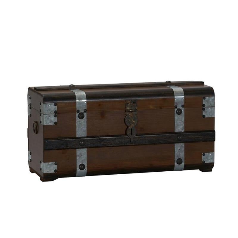 トランク ストレージ ボックス 箱 木製 アンティーク ビンテージ かっこいい Williston Forge Collier Steel Band Trunk