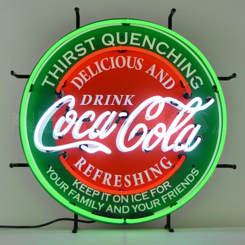 コカコーラ ネオンウォールライト 直径60cm レトロ 照明 Neonetics Coca-Cola Neon Wall Light NEO1799 家電
