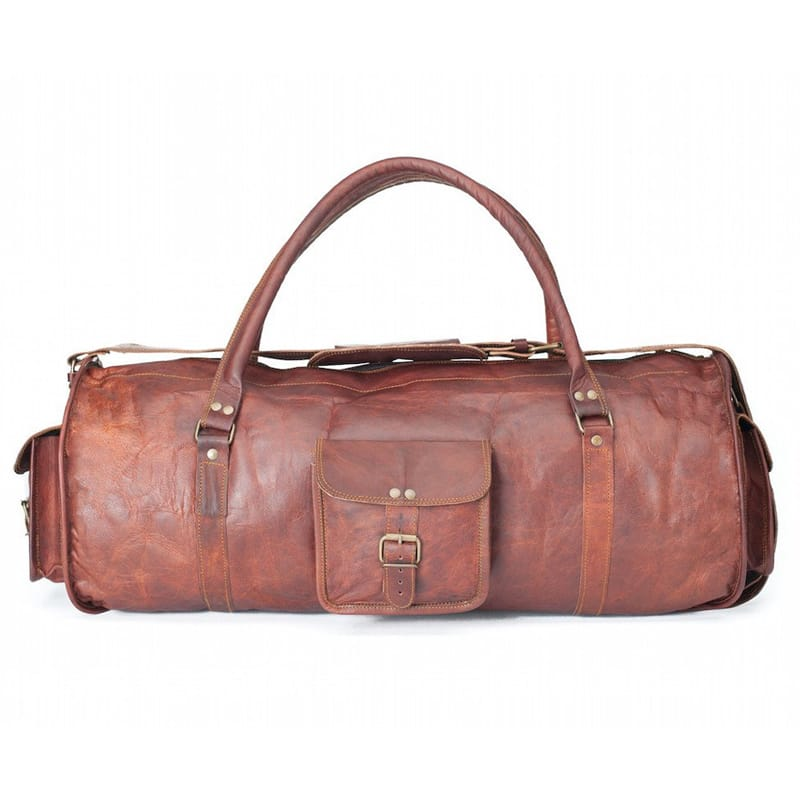 ボストンバッグ レザーダッフルバッグ ウィークエンドバッグ 本革 幅60cm ヤギ革 High On Leather LEATHER HOLDALL BAG 24