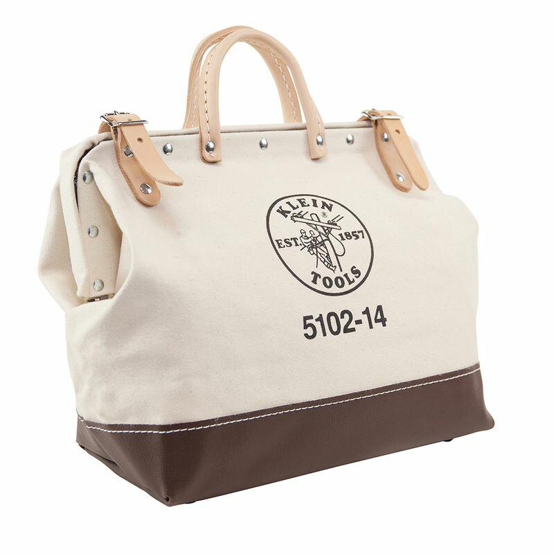 工具バッグ クラインツール キャンバス ツールバッグ 工具箱 35cm アメリカ製 Kleintools Canvas Tool Bag, 14-Inch 5102-14