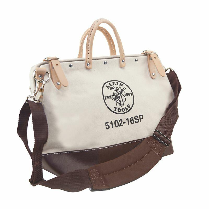 工具バッグ クラインツール キャンバス ツールバッグ 工具箱 ストラップ付き 40cm アメリカ製 Kleintools Deluxe Canvas Tool Bag, 16-Inch 5102-16SP
