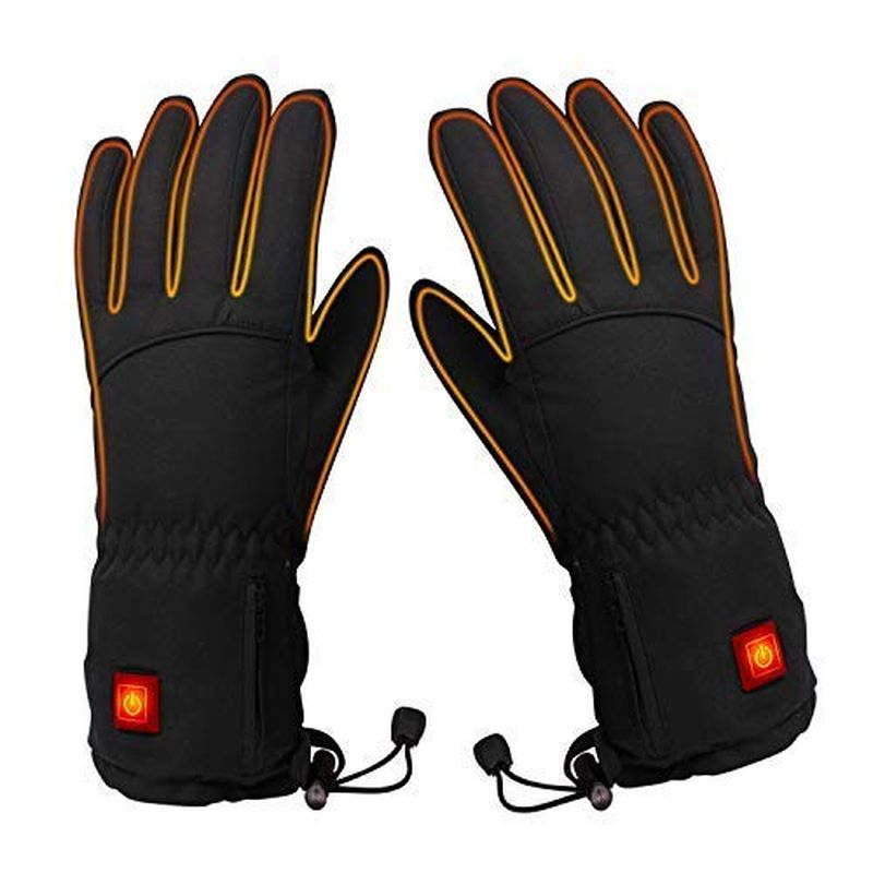 冬の自転車バイクの指が寒い!電気で暖める手袋 ヒーターグローブ 充電式ウオーマー ぬくぬくコードレス電気手袋 PAXCESS Heated Gloves, Heated Motorcycle Gloves with Rechargeable Li-ion Battery for Men and Women