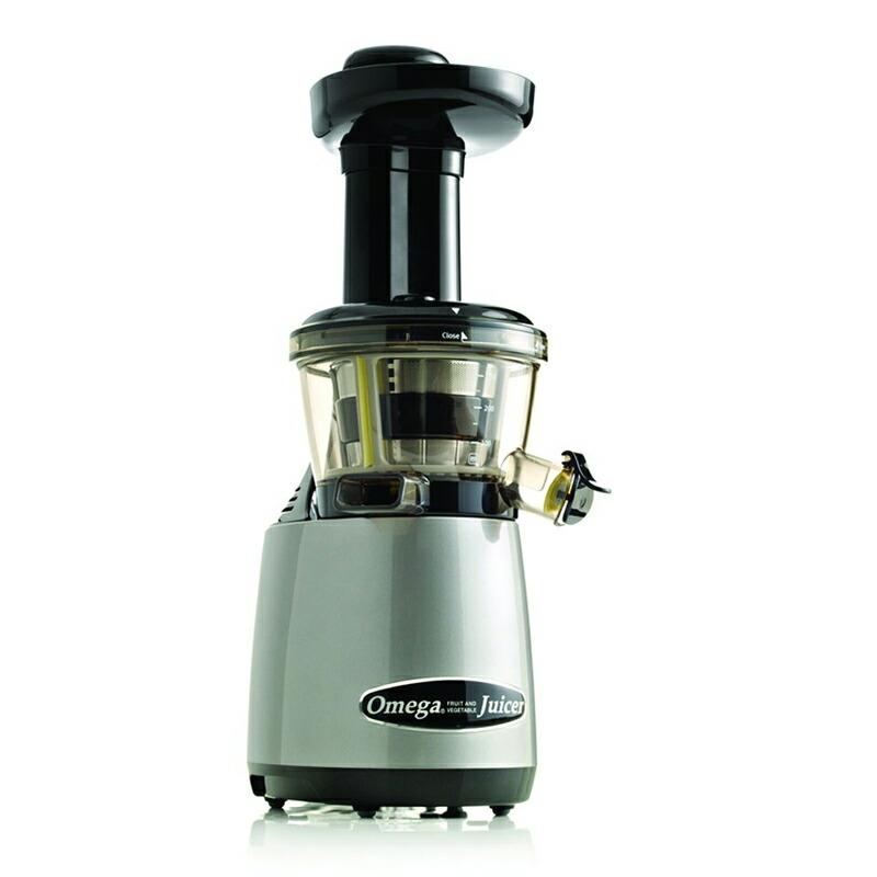 スロージューサー オメガ シルバー Omega Juicers VRT400HDS Vertical Masticating Juicer with Tap 80 RPM, Silver 家電