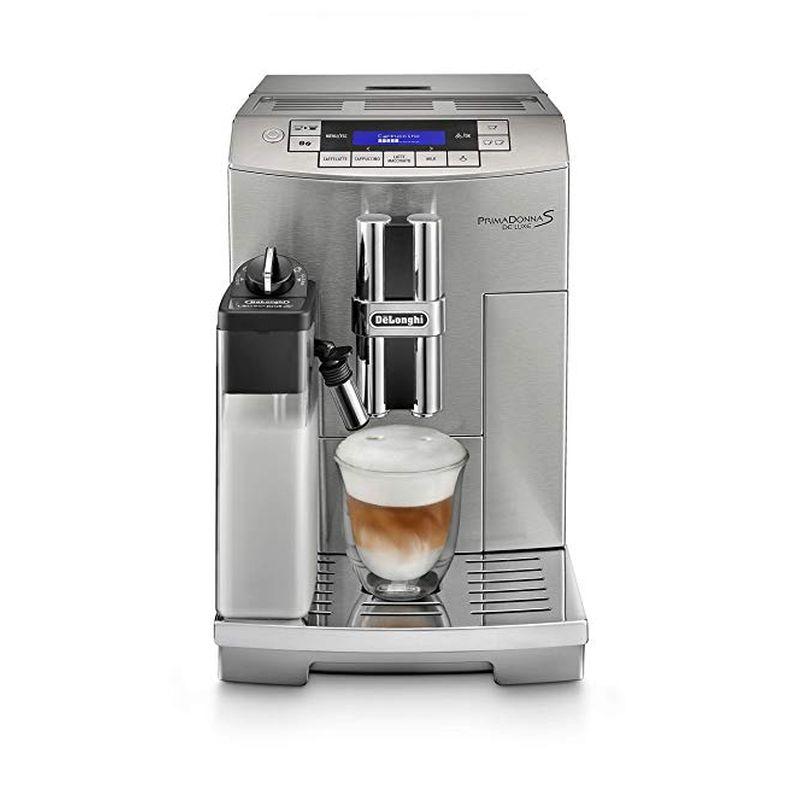 エスプレッソマシン デロンギ プリマドンナ ダブルボイラー DeLonghi America ECAM28465M Prima Donna Fully Automatic Espresso Machine with Lattecrema System 家電