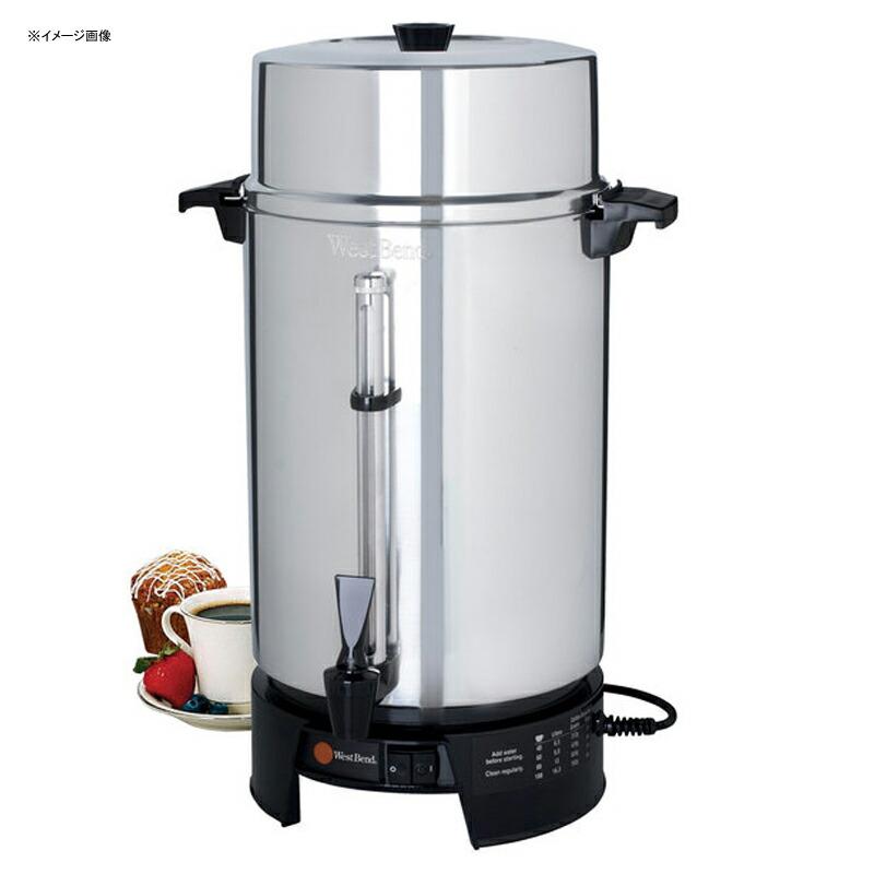 海外向け 220V 240V 大きい コーヒーメーカー サーバー 15L ディスペンサー ホテル レストラン パーティー 業務 イベント 結婚式 ウエストベンド West Bend 58010V Commercial 100 Cup Aluminum Coffee Maker - 220V (International Use Only) 家電